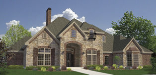 Home design and plan development results in a rendering of another new Kevin Humphrey home
