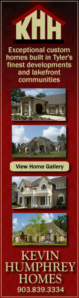 Kevin Humphrey Homes ... exceptional custom homes built in Tyler's finest developments and lakefront communities